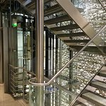 Staircase and elevator
