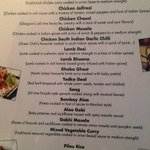 Tapas Madness menu