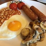 A generous veggie full English breakfast.