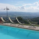 View taken from the pool overlooking the Umbrian countryside
