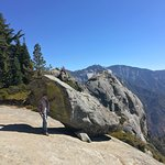 View of Moro rock from hanging rock lookout
