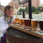 beer sampling at garrison