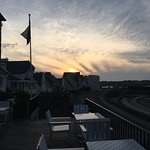 View to Roscoff Town from the Patio at Sunset