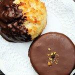 Isler and Chocolate Dipped Macaroom