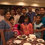 Amargarh staff joining our birthday celebration at the restaurant