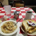 Oatmeal, sourdough toast and coffee: $7.03