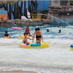 Wave Pool with different strength of waves. The strongest wave can rock our boat (float). Superb