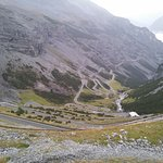 Hotel is 5-10 mins from the stelvio pass