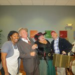 The lovely breakfast lady & entertainers, 'Johnny Mercer', the ship captain's wife, & Forrest Gu