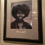 Michelle Obama on the alumni wall