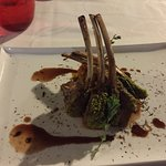 The lamb with the Nero d' Avolo sauce