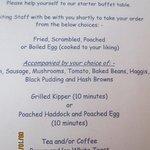 Haggis for breakfast!