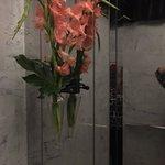 Fresh flowers in the elevators - refreshing!