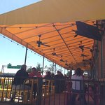 Outdoor seating at the Grapevine location