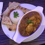 Curry Rice and Nan Bread