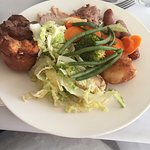 Delicious carvery - and thank you to Steve for bringing a jug of gravy to the table so I didn't