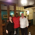 The man himself Chef Lorenzo and two very happy customers, we will be back.