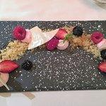 dessert au chocooat blanc er sablé