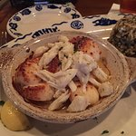 Heaven on earth. Scallops with lump crabmeat.