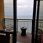 View of the ocean from our room on the 12th floor.