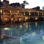 Lovely pool at the Nairobi Serena is surrounded by gardens and outdoor dining from the restauran