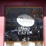 The door on Harris to the cafe