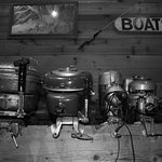 Antique Outboards in Lobby Area
