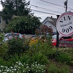 Enjoy the garden atmosphere, a glass of wine, or beer at Vin 909 (Annapolis, MD)