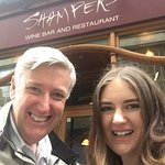 John Walsh outside Shampers restaurant