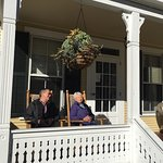 Front Porch is a great place to relax on a sunny day.  breakfast is not the traditional eggs and
