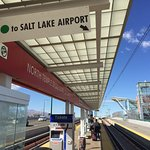 easy walk to/from train stop for Salt Lake Airport (about a block)