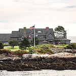Bush Compound on Walker Point on an Autumn Morning