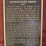 History of the Georgetown Depot that houses Alpine Bar (10/Oct/16).