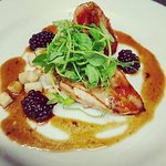 Pheasant with roasted Celeriac and Blackberry jus. (EVENING MENU)