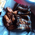 The delicious ribs and wings