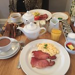 Breakfast at the Lime Tree Hotel.