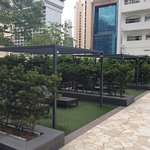 Orchard Hotel pool area on 4th floor ...