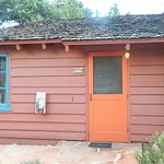 Our cabin. We even had a doorbell!