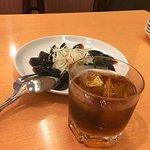 ピータンと紹興酒(1合ロック)