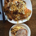 Sandy's Hashbrowns and Breakfast sandwich