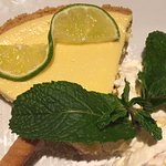Keylime pie with fresh whipped cream