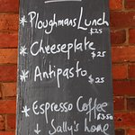 Our menu, simple but oh so delicious