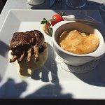 Carré d'agneau crème d'ail, gratin dauphinois...excellent