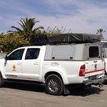Unsere Trucks auf dem Guesthouse Parkplatz