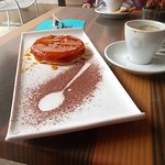 Coffee and delicious pastry.