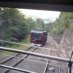 Sehr steile Standseilbahn von Kaltern auf den Mendelpass. Ist ein Muss!