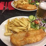 Who knew fish and chips with Italian beer.