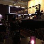 Moody lighting in the bar