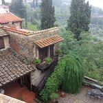 Great views of the valley and lovely gardens of Villa Sangiovese