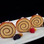Espirales de Foie y Membrillo con Tosta, Pan de Pasas y Nueces...